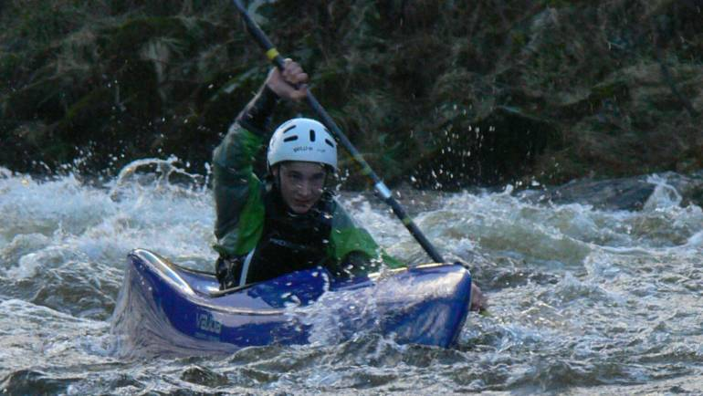 Michael Denvir is the 2017 Scottish Wild Water Racing junior champion